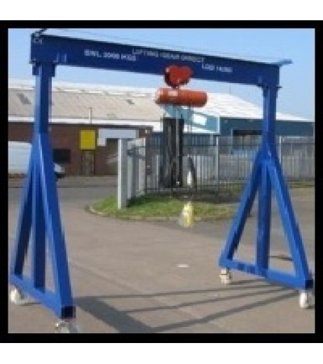 1000KG Mobile Lifting Gantry with 3MTR Under beam x 4MTR Span
