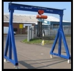3000KG Mobile Gantry Crane with 3MTR Under beam x 3MTR Span
