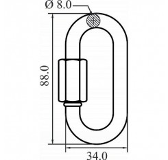 Kratos Oval Quick Link - FA 50 400 16