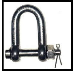 Stainless Steel Lifting Shackles - Dee with Safety Bolt