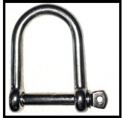 Stainless Steel Wide Jaw D Shackle