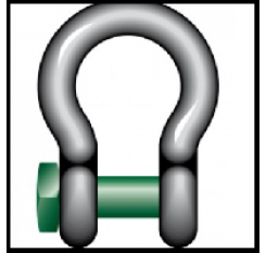 Green Pin Trawling Bow Shackles