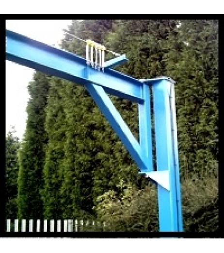 Under braced 125KG Jib Crane with 5MTR Under beam x 3MTR Arm