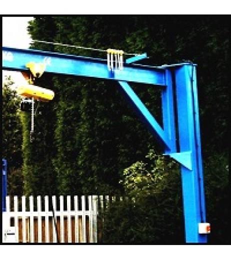 Under braced 2000KG Jib Crane with 3MTR Under beam x 3MTR Arm