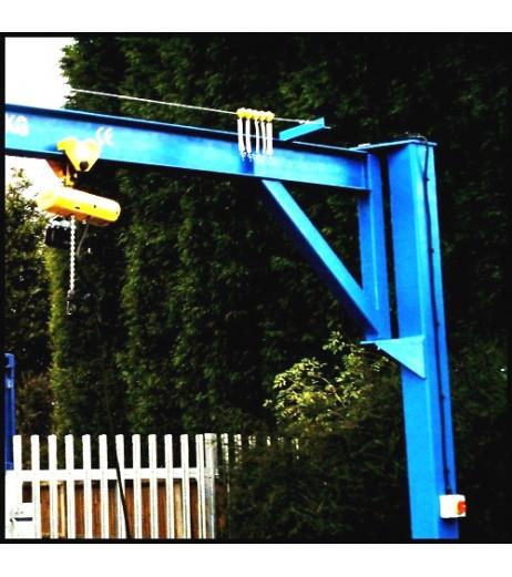 Under braced 3000KG Jib Crane with 3MTR Under beam x 4MTR Arm