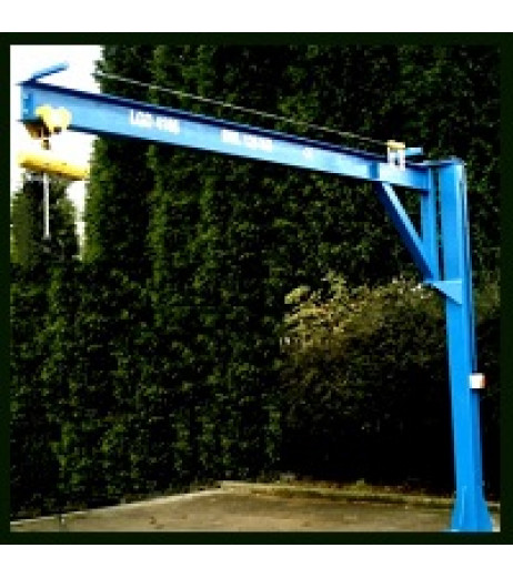 Under braced 250KG Jib Crane with 3MTR Under beam x 3MTR Arm