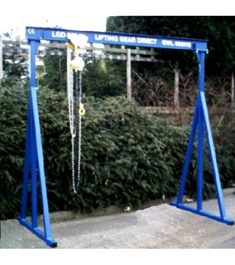 5000KG A Frame Lifting Gantry with 3.5MTR Under beam x 5MTR Span