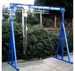 2000KG A Frame Lifting Gantry with 4.5MTR Under beam x 5MTR Span