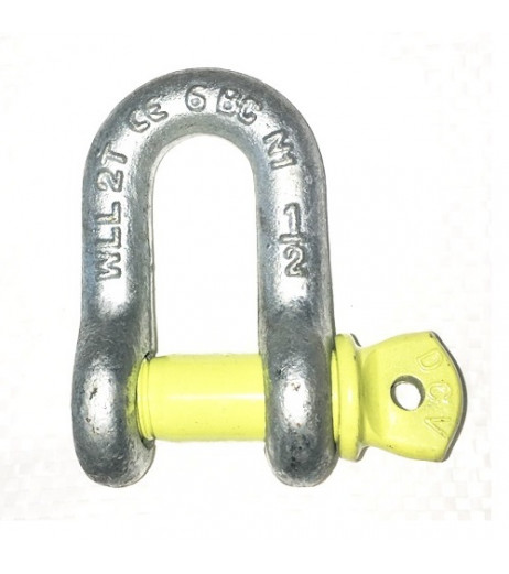 Yellow Pin Alloy D Shackles