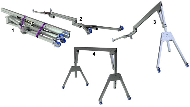 standard aluminium gantry parts
