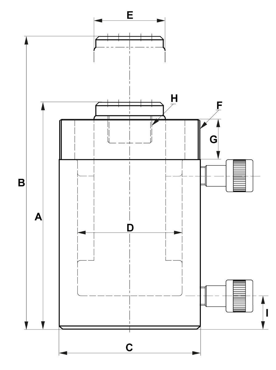 double acting cylinder dimensions