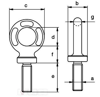 grade 8 eyebolts metric