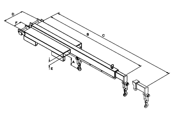 Extendable Low-liner forklift Jib Arm dimensions