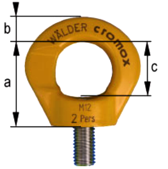 Cromox CDS-PPE Stainless Steel Swivel Eye Bolt