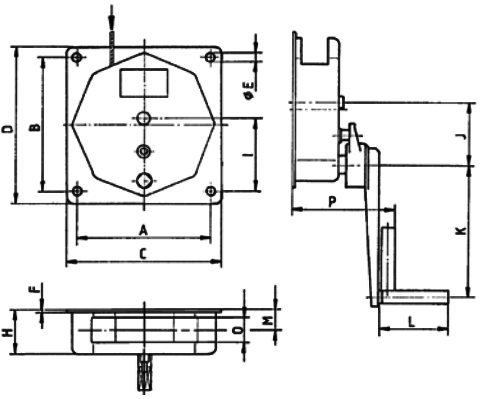 wall mounted spur gear winch dimensions