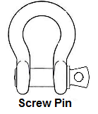 screw pin shackle
